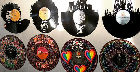 VINYL RECORD WALL ART & JEWELRY