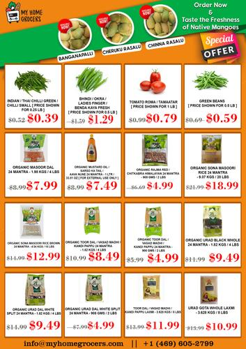 Taste the Freshness of Native Mangoes & Special Offers On Daily Needs @ MyHomeGrocers
