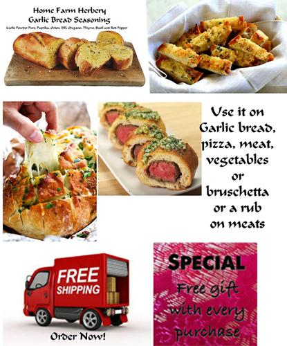 Garlic Bread Seasoning, Order The best now, FREE shipping plus a free gift