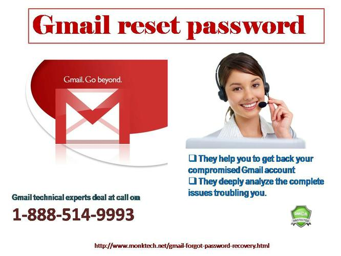 Whenever you want change Gmail Reset Password  settings easily @1-888-514-9993