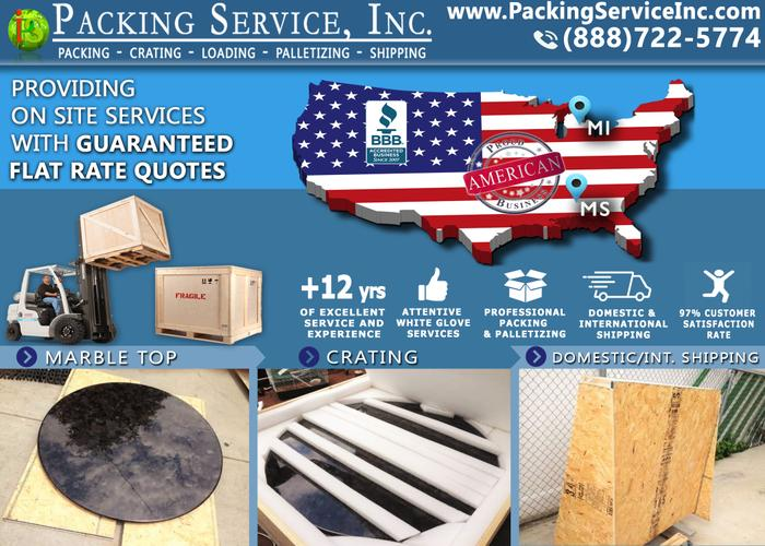 Westchester, New York - Pallet Furniture, Custom Crates & Packing Boxes - Packing Service, Inc