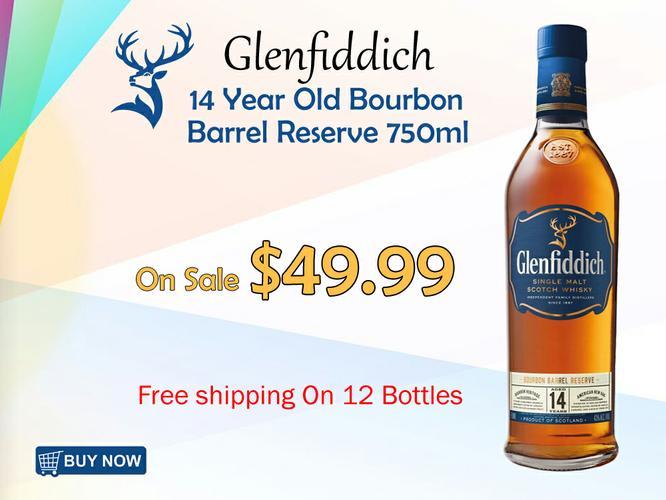Glenfiddich 14 Year Old Bourbon Barrel Reserve 750ML