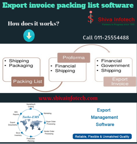 Export invoice packing list software