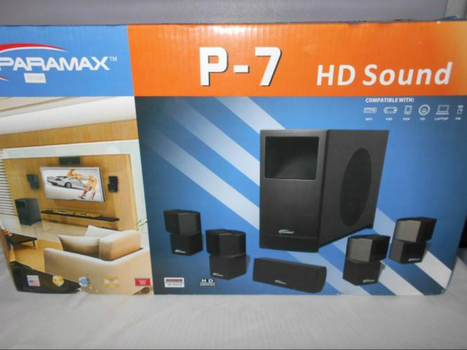 Paramax P-7, 6 piece home theater system (NEW)