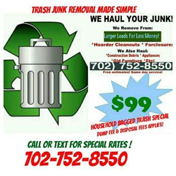 Got Trash? Got Junk? Trash Junk Removal Made Simple (702)752-8550