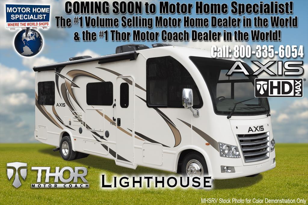 2018 Thor Motor Coach Axis 25.4 RUV for Sale at MHSRV W/OH Loft, IFS, 15K A/C