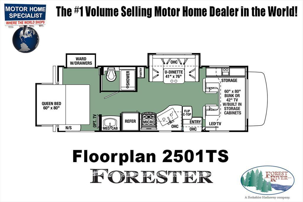 2018 Forest River Forester 2501TS RV for Sale @ MHSRV.com W/15K A/C