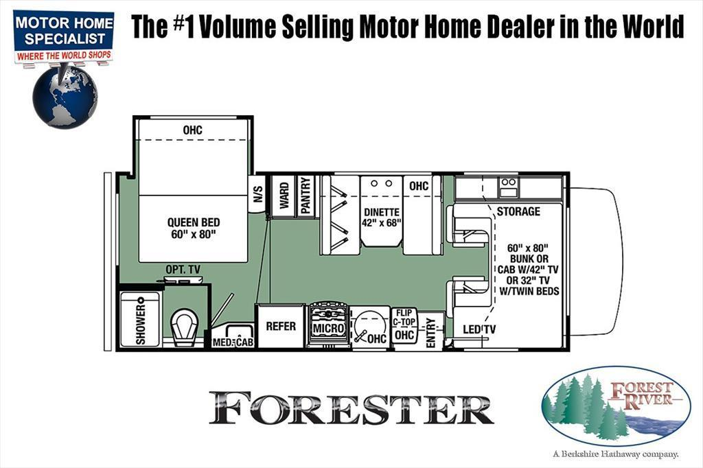 2018 Forest River Forester LE C 2251S RV for Sale @ MHSRV.com W/LE Premie