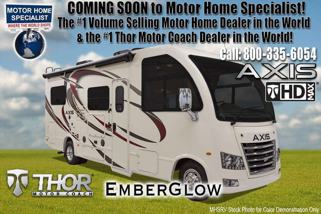 2018 Thor Motor Coach Axis 24.1 RUV for Sale @ MHSRV.com W/2 Beds & IFS