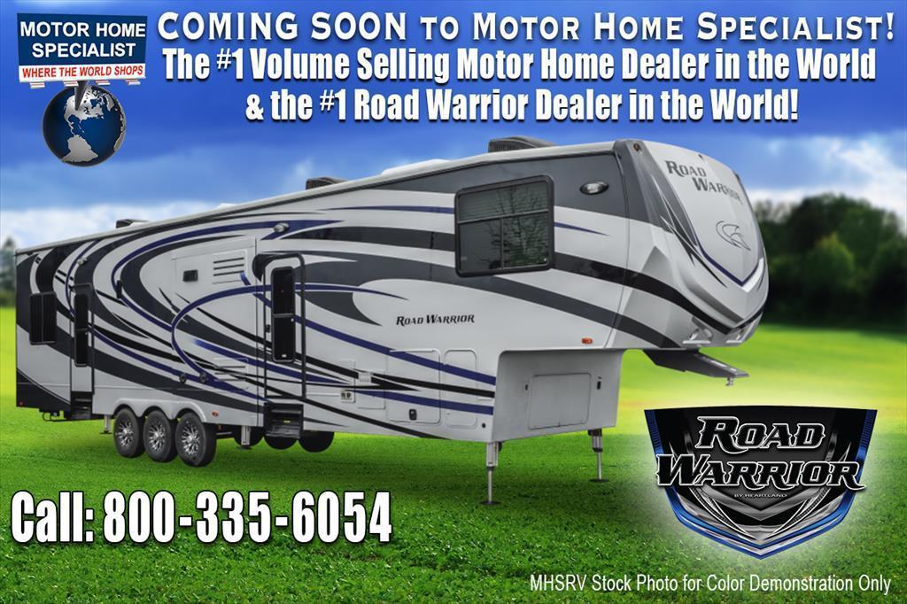 2018 Heartland Road Warrior RW427 Dual Pane, Arctic, 5 TV, 3rd  A/C, D