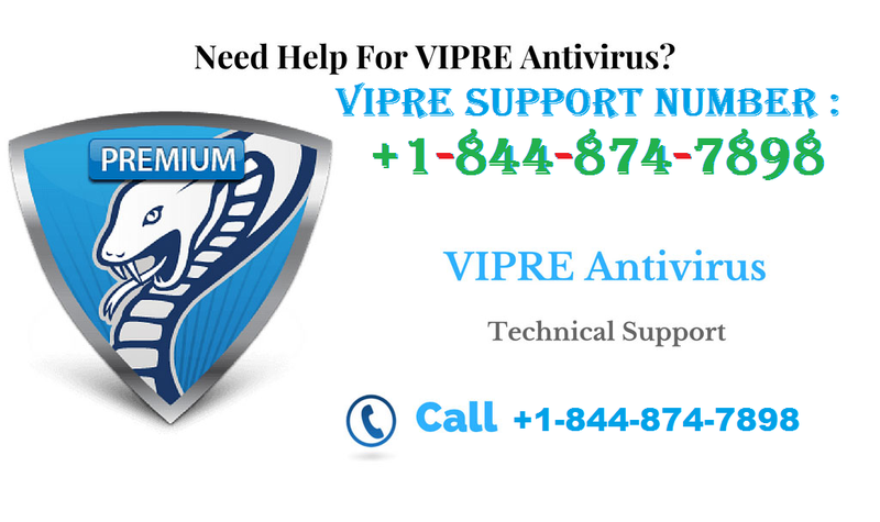 Vipre (1-844-874-7898) Support Phone number – (Toll-free)