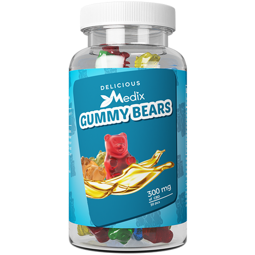 CBD Infused Gummy Bears By Medix