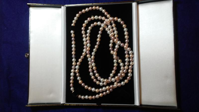 "60"" LG. Pearl Necklace, 7-8mm, AA+ Quality - Double Length"