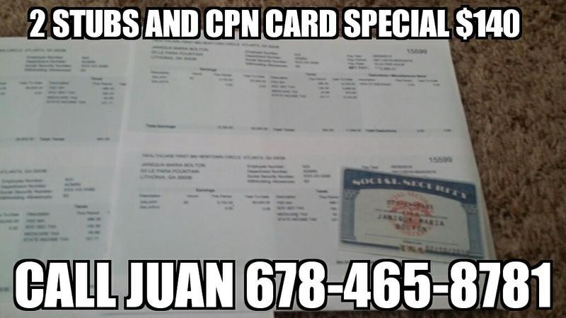 SAMEDAY NOVELTY PROOF OF INCOME - Call Juan 678-465-8781