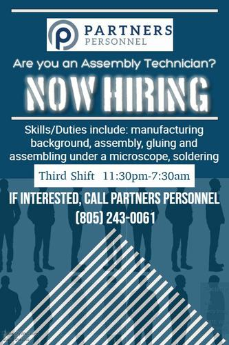 Assembly Technician Wanted
