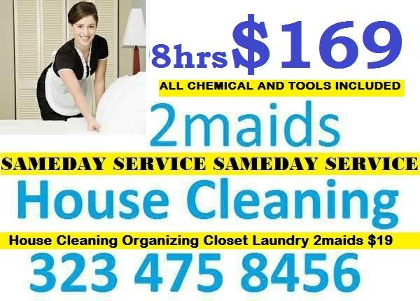 House Cleaning 2maids Sameday 3109125157