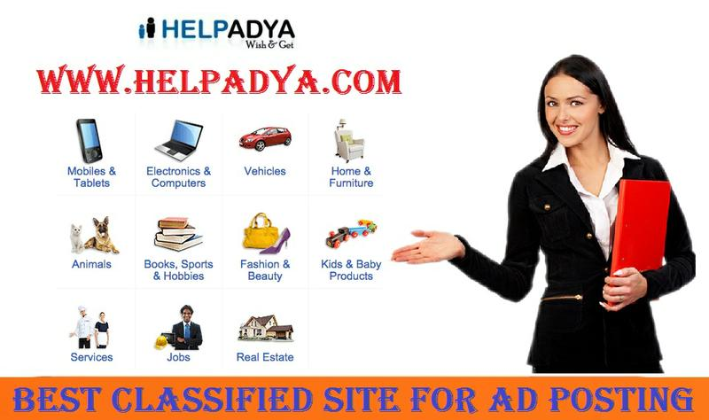 Best Classified Site for Ad Posting - Help Adya