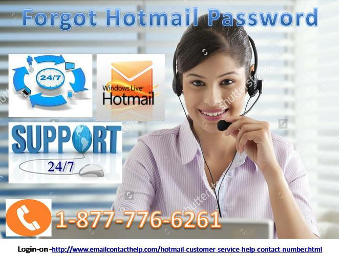 For Forgot Hotmail Password Call 1-877-776-6261 for Hotmail Help Desk Support