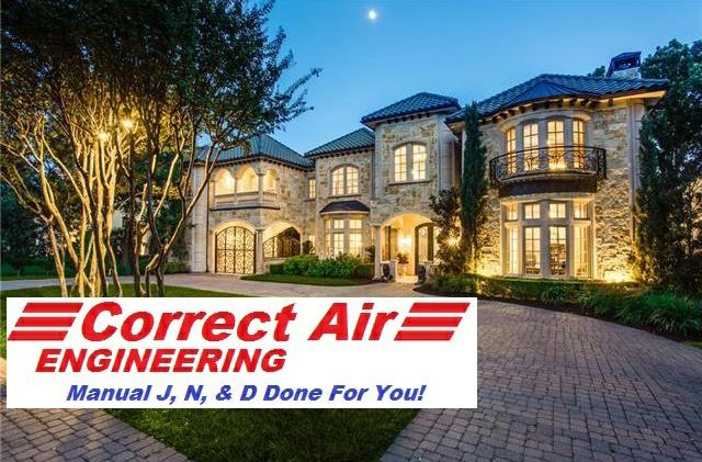 HVAC Manual J, D, and S calculation services, 3rd party certified