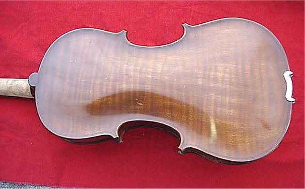 Brand new hand crafted for dominic's music. One piece flamed back full size violin outfit, meets men