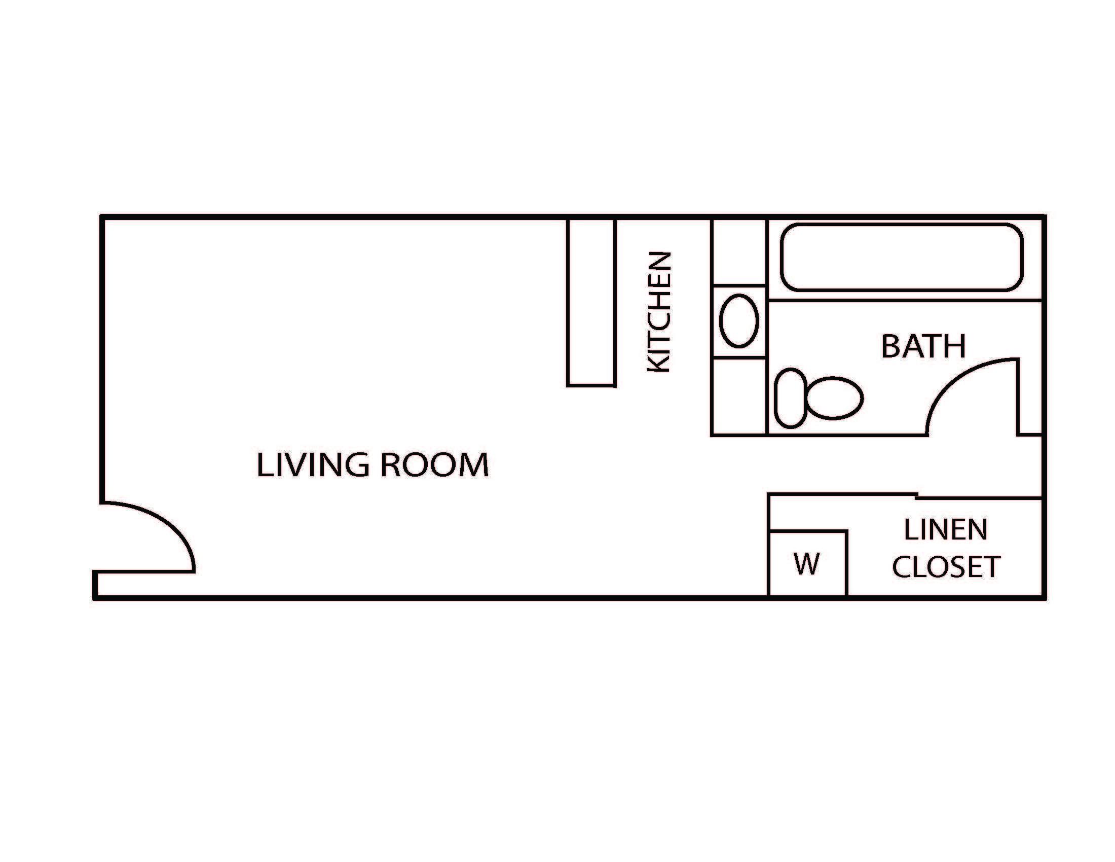 $450 Studio Apartment for rent