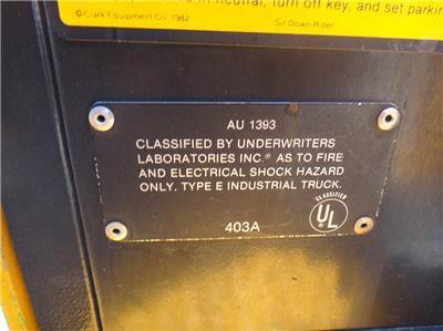 CLARK HWP60E PALLET JACK FORKLIFT 6,000 LBS CAP.