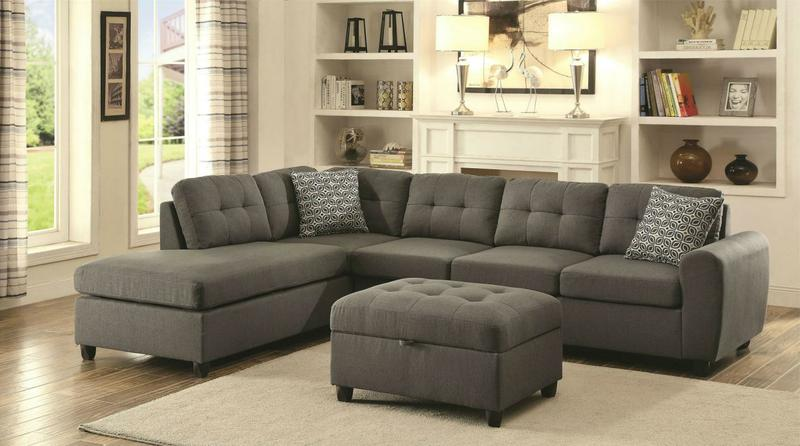 Grey Sectional Sofa With Chaise Reversible