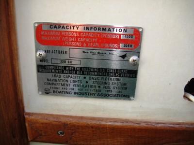 SEARAY BOAT SRV 220 1974 WITH TRAILER