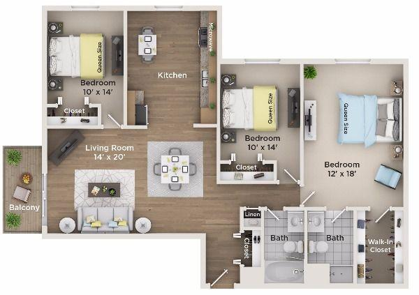 $1795 Three bedroom Apartment for rent