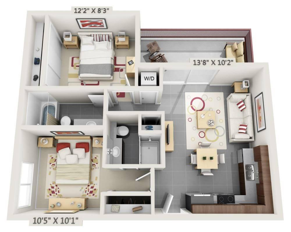 $3293 Two bedroom Apartment for rent