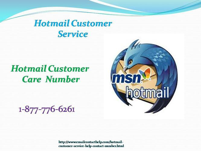Customize your Email ID by calling @ 1-877-776-6261 Hotmail Customer Service