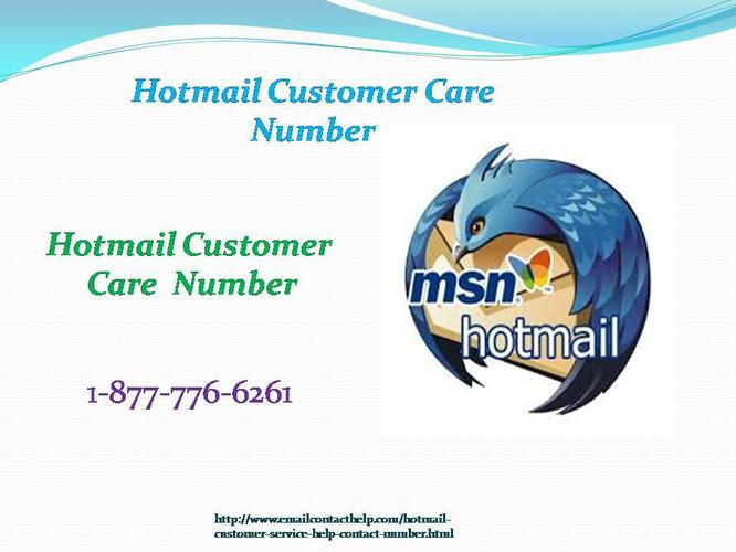 Hotmail Customer Care? Dial 1-877-776-6261 Hotmail Service (United States)