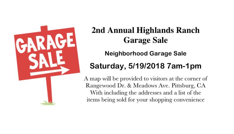 Highlands Ranch Neighborhood Garage Sale