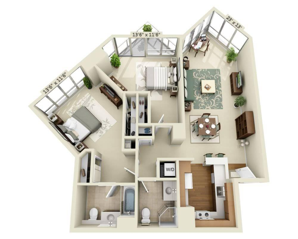 $5372 Two bedroom Apartment for rent
