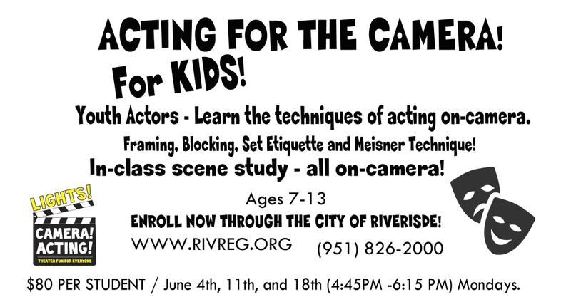 Acting for the Camera for KIDZ!
