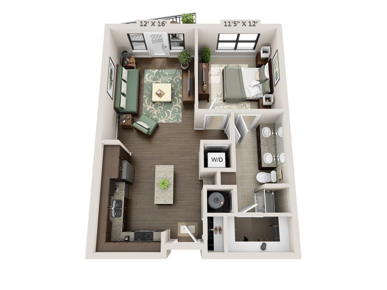 $1342 One bedroom Apartment for rent