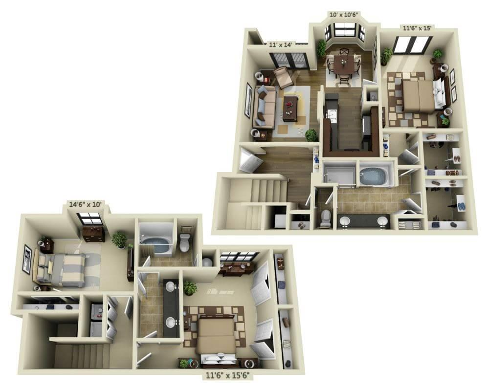 $2529 Three bedroom Apartment for rent