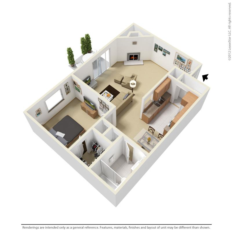 $563 One bedroom Apartment for rent