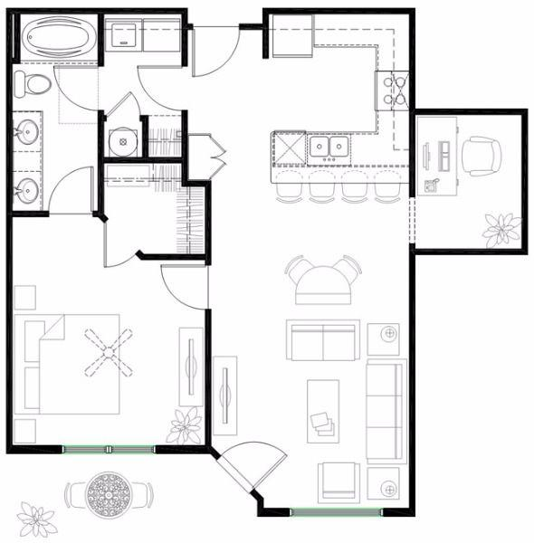 $1140 One bedroom Apartment for rent
