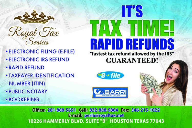 Tax times Houston