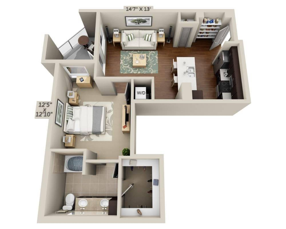 $2201 One bedroom Apartment for rent