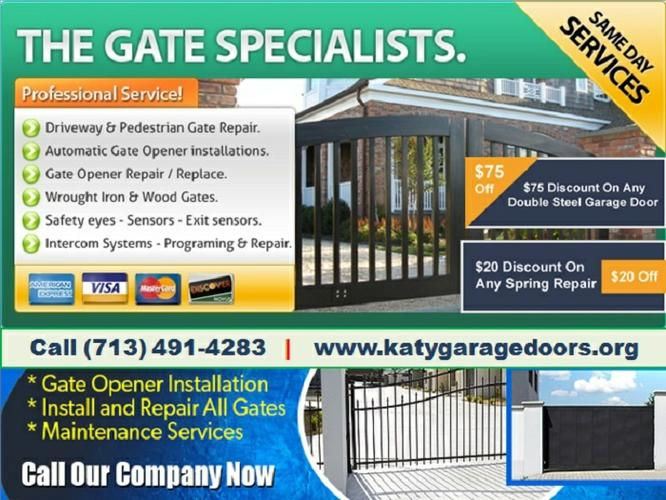 Only starting $26.95 | Top Most New Gate Installation Katy TX