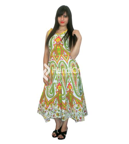 Designer Mandala Printed Gowns Online from Handicrunch