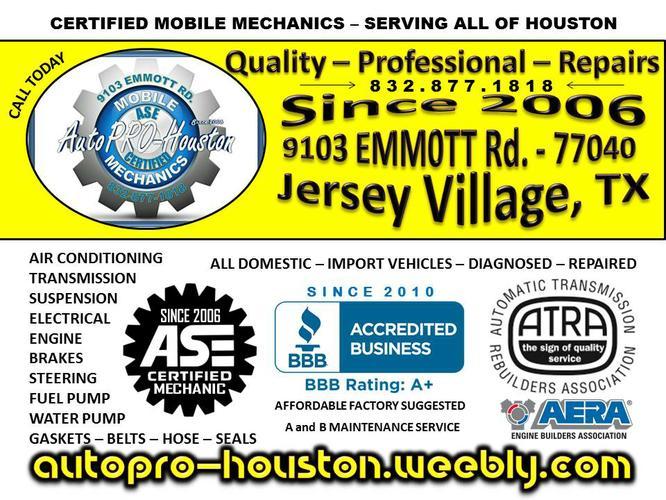 Jersey Village Auto Brake Repair Shop Since 2006