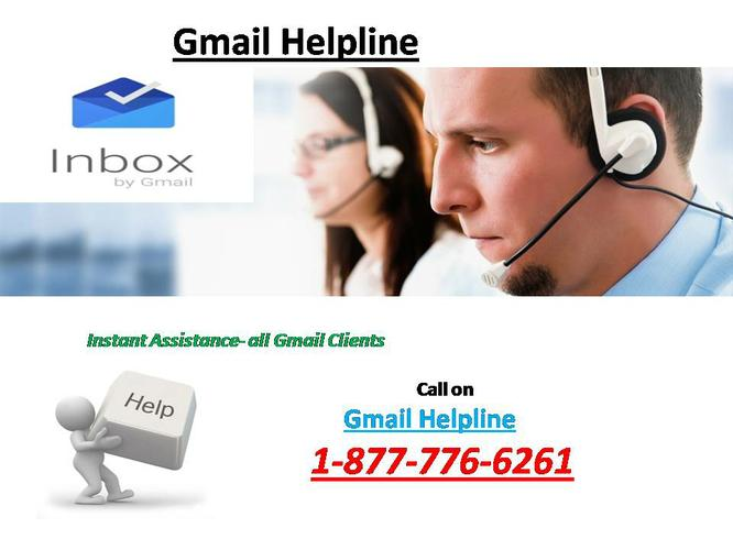 Get Online Help on 1-877-776-6261 Gmail Toll Free Help Number
