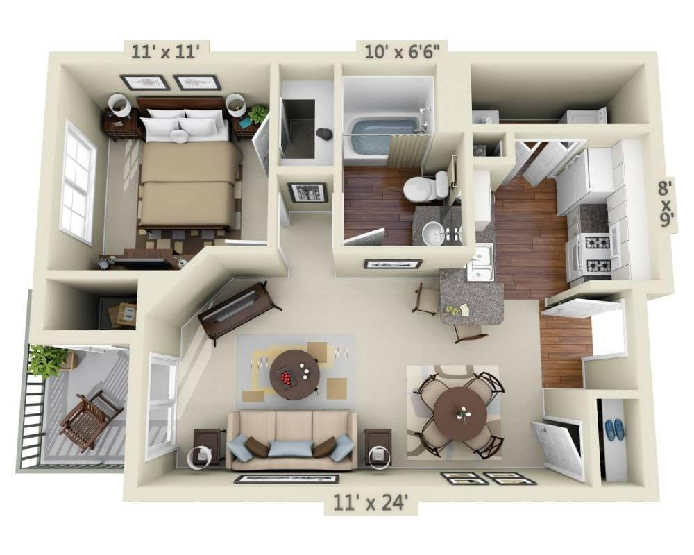 $2673 One bedroom Apartment for rent