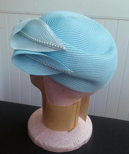 NEW WOMEN'S BABY BLUE CHURCH WEDDING HAT