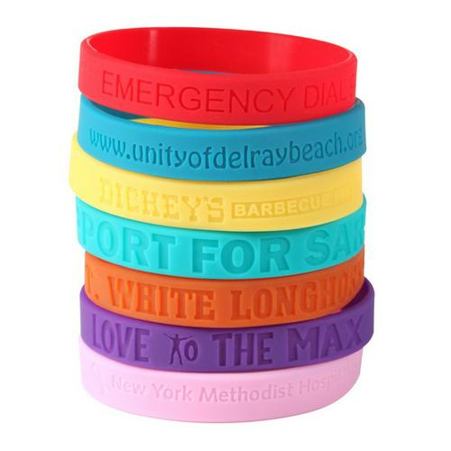 Best value Custom silicone wristbands Available in Many Colors & Styles