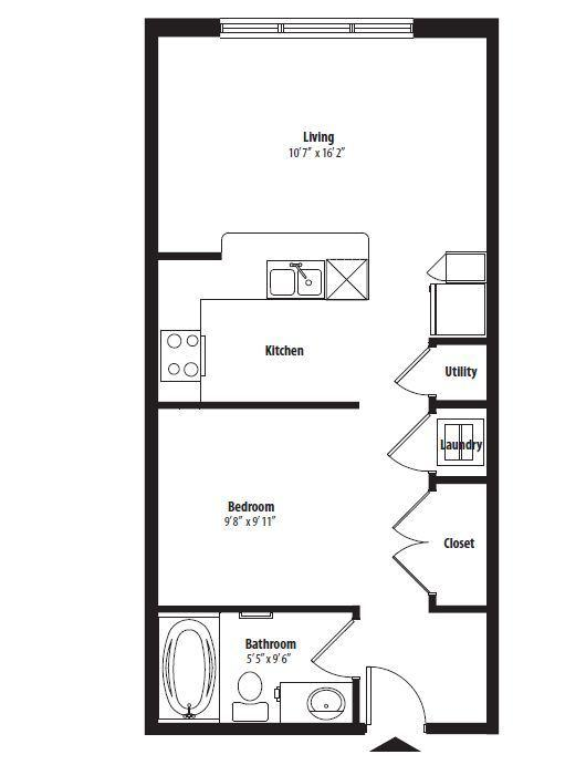 $806 Studio Apartment for rent