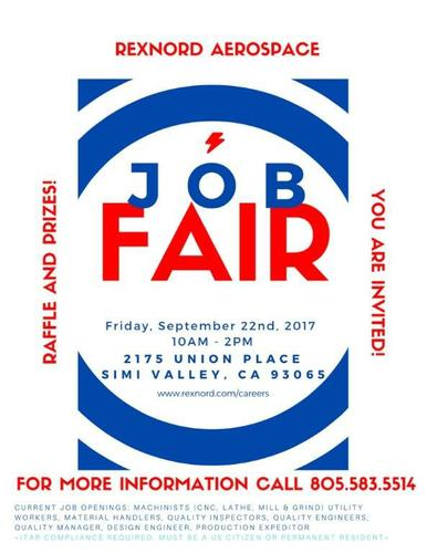 Job Fair 9/22/2017 -Simi Valley, Ca
